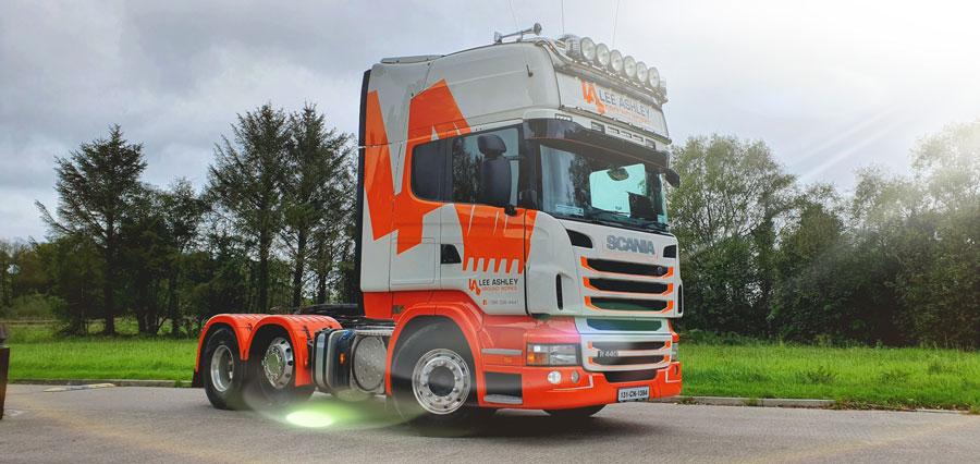 Lorry graphics wrap ireland