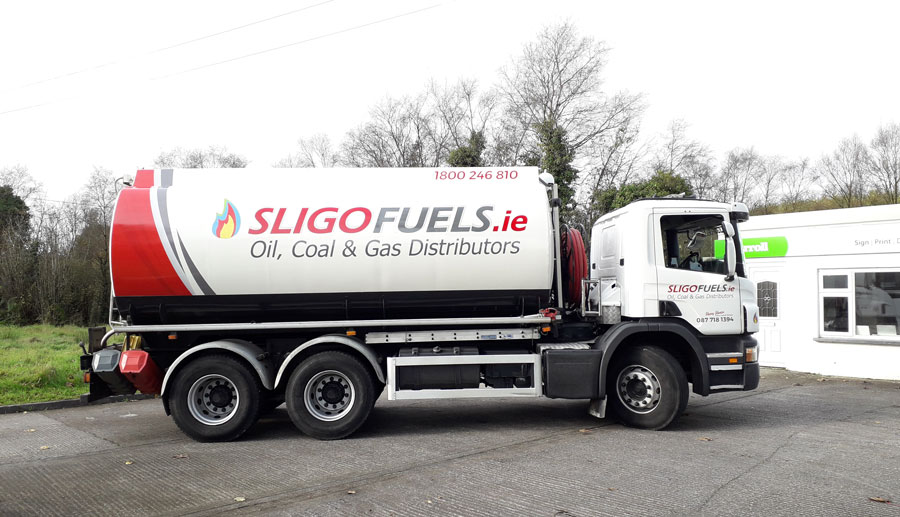 oil truck wrap cavan ireland