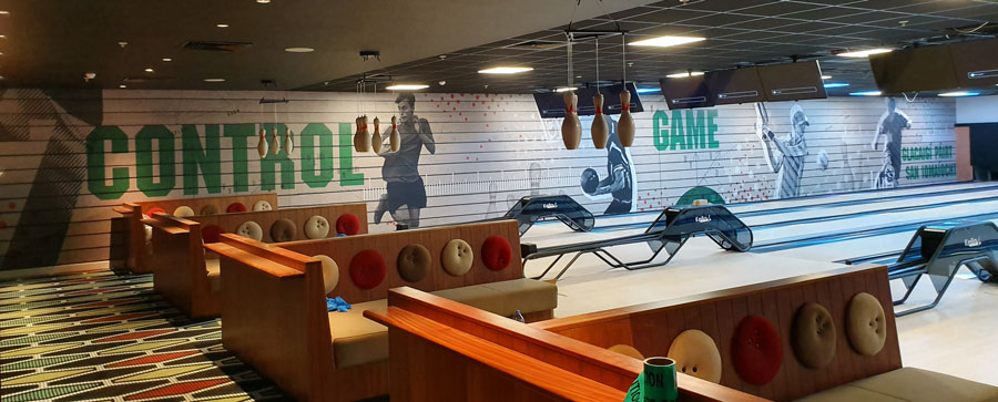 bowling alley wall graphics