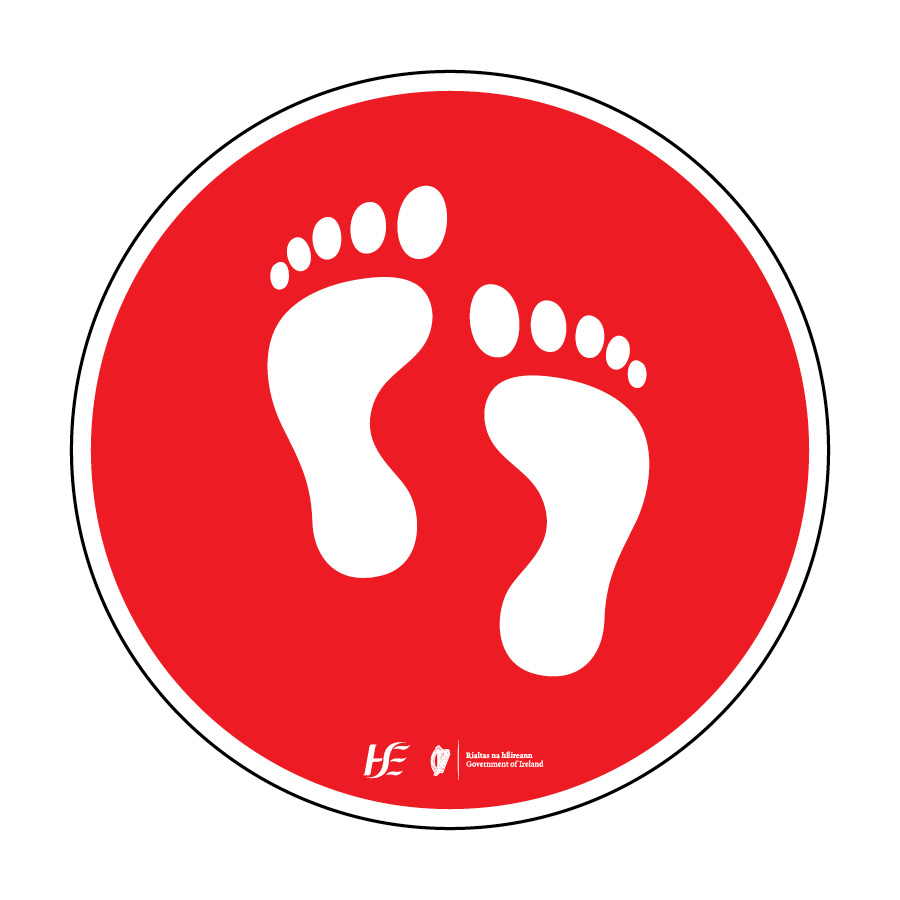 feet floor sticker