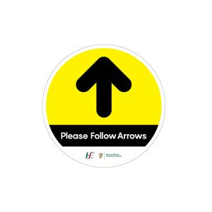 follow arrow floor stickers