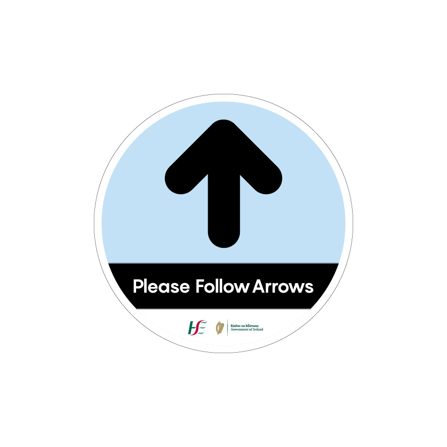 follow arrow floor stickers