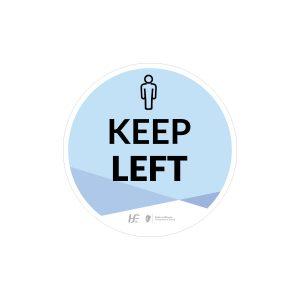 keep left floor sticker