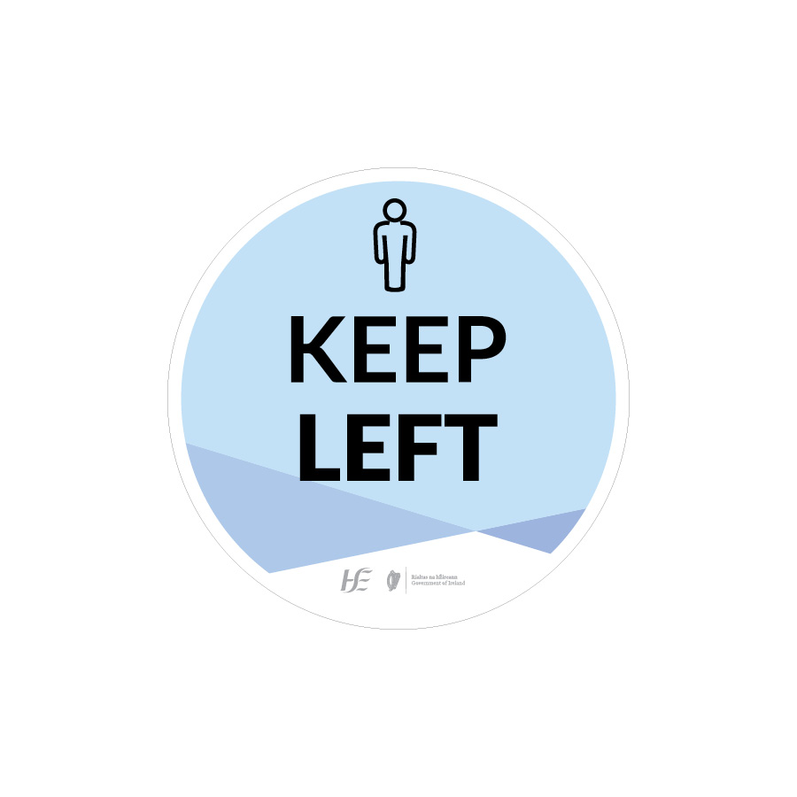 keep left floor sticker