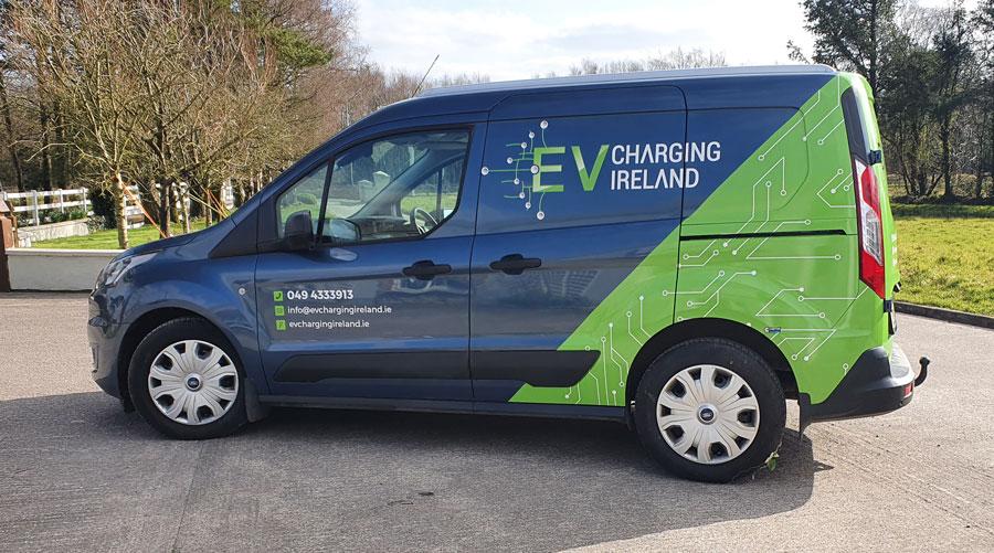 EV-charging-Ireland-half-van-wrap