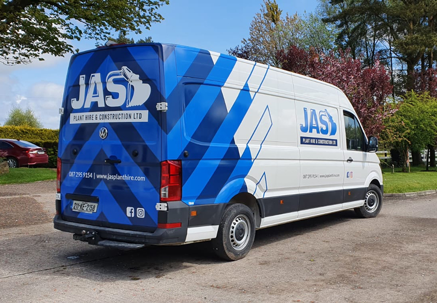 construction van graphics wrap
